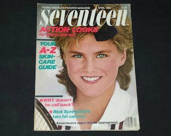 Seventeen Magazine April 1982 / 1982 Marilyn Clark Cover Model