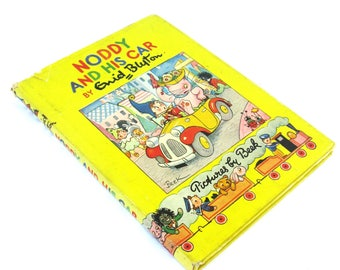 noddy and his car   ...   vintage book ...  classic childrens book