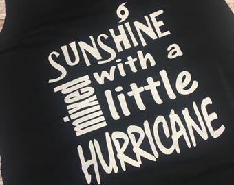 Sunshine Mixed with a Little Hurricane Racerback Tank Top