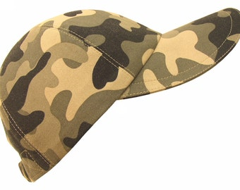 Incognito - Classic Camo Baseball Ball Cap Olive Greens Taupe & Black Always Fashionable Modern Camouflage Sports Fashion Hat by Calico Caps