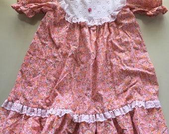 Girls vintage Sears floral dress 3-5 yrs