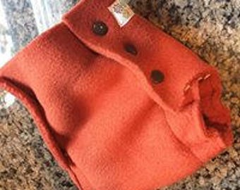 CLEARANCE!Fleece Diaper Cover in Burnt Orange