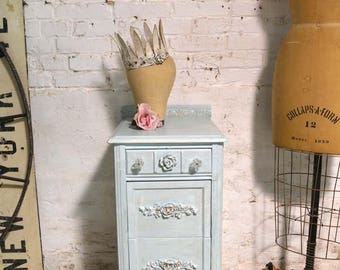 Painted Cottage Chic Shabby Romantic French Night Table NT906