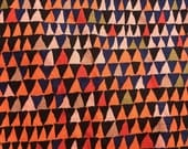 Reserved for Jennifer,Brandon Mably Tents, orange, OOP, rare, Kaffe Fassett collective,  geometric,one yard