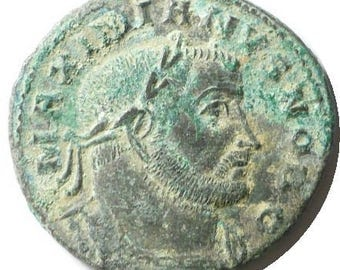 ANCIENT ROMAN COIN rare Grade Maximianus Roman emperor as Caesar 286-310 Ad Large Follis bronze Coin