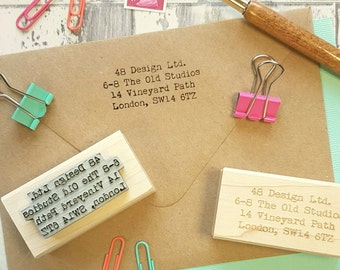 Personalised Business Address Rubber Stamp  - Personalized Stamp - Business Stamper - Custom Stamp Small Business - Supplies - Contact Info