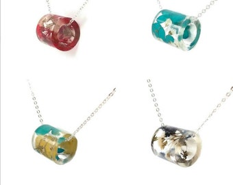 Jewelry Subscription:  Season Botanical Resin Necklaces