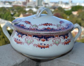 Vintage floral soup tureen