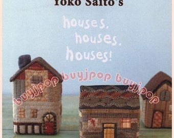English Edition Japanese Craft Pattern Book Patchwork HOUSES HOUSES HOUSES by Yoko Saito