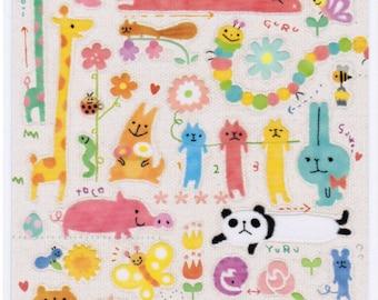 Mind Wave Yuru Animal Sticker Sheet