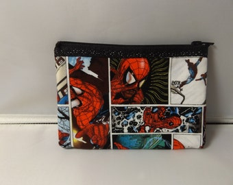 Spiderman Fabric Coin Purse- Handmade