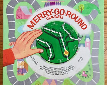 Vintage 1960s Board Game / Whitman Merry-Go-Round Game 1965 Complete Ages 5-10 VGC / Be First To Reach the Circus, Retro Mid Century