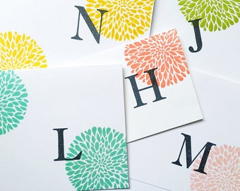 Personalized Stationery. Initial Stationery. Teacher Gift. End of School Gift. Letter Cards. Alphabet Card Set. Hand Stamped. Small Gifts