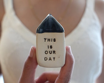 This is our day Wedding props Love gift Wedding decor Anniversary gift Miniature house