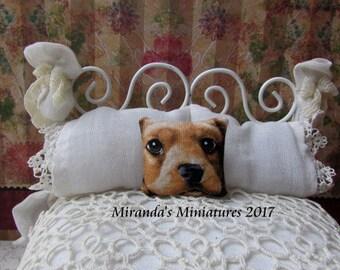 Dollhouse Miniature Cocker Spaniel puppy Face Pillow