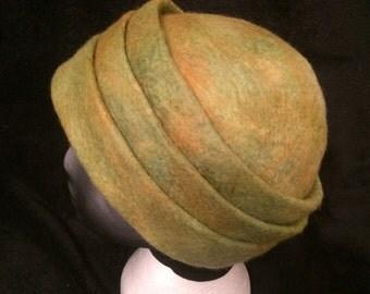 Merino wool triple brimed hat