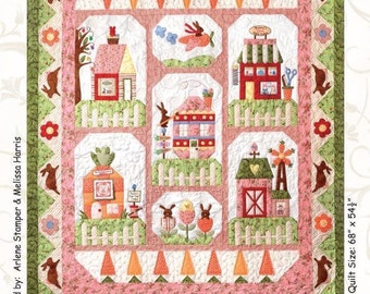 Bunny Town Easter Rabbit Spring The Quilt Company Pattern Set of 7
