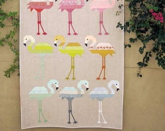 Florence Flamingo Elizabeth Hartman Baby Lap Twin Quilt Pattern Piecing