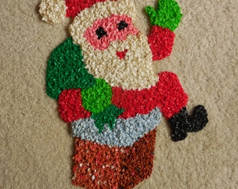 Vintage Pop Corn Santa Wall Decor