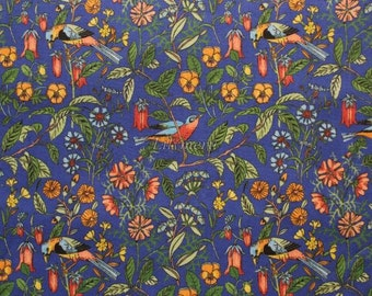 Liberty tana lawn printed in Japan -  Catesby - Navy