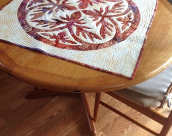 Hawaiian Applique Table Topper