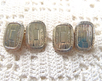 Vintage Cuff Links Krementz Silver and Gold Tone