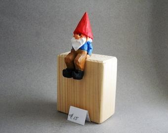 Sitting garden gnome    #15