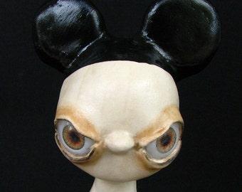 Art Sculpture - No More Dole Whip- Handmade - OOAK - Paper Clay Sculpture - Disney - Goth Sculpture - Odd Sculpture - Weird Sculpture
