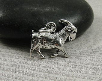 Goat Charm - Sterling Silver Goat Charm for Necklace or Bracelet