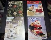 4 crochet pattern books for Christmas