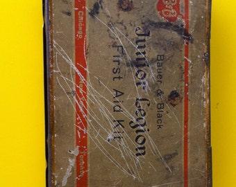 Vintage Junior Legion First Aid Tin
