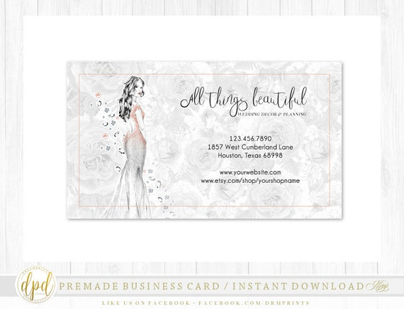 Custom Premade Blank DIY Single Sided Business Card | Business Template | Business Branding | Business Graphics | INSTANT DOWNLOAD-AA107