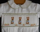 Smocked Peter Rabbit Brother-Sister Outfits - CUSTOM ORDER