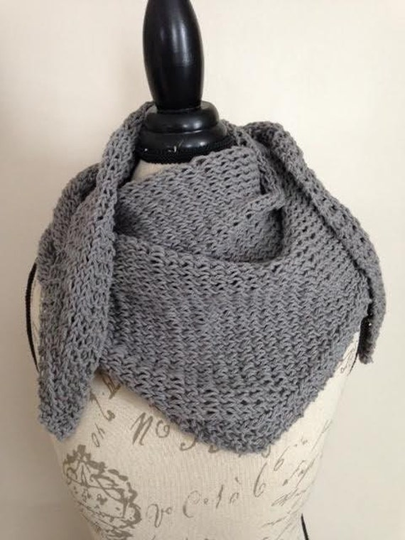 Slate Gray Triangular 100% Cotton Scarf/Cowl