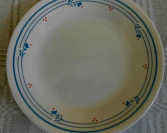 "4 Country Violets Bread,Dessert Salad Plates 7"" Floral red blue"
