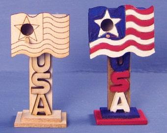 USA Birdhouse Kit 1:12 Scale