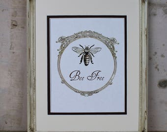 Bee Illustration Digital Art Instant Download Vintage Honeybee Printable Wall Art Home Decor Scrapbooking Crafts Greeting Card