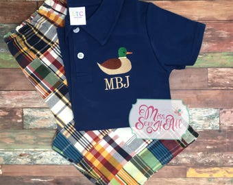 Boys Mallard Polo Shirt and Shorts Set