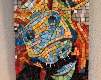 "Stained Glass Mosaic Cow ""Bernice"""