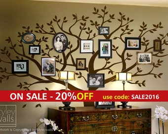 Frame Tree Wall Decal, Family Tree Wall Decal, Photo Frame Tree Wall Decal Sticker Living Room Home Decor, Living Room Decor Sticker