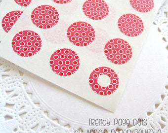 Redberry Hello Dotties Trendy Page Dots™ - Circle Reinforcements - Labels, Stickers - Hole Reinforcements Reinforcers, Planner Stickers, Red