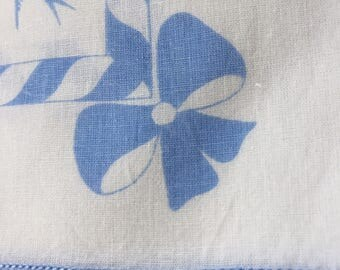 Set of 6 Cotton Napkins Blue Birds