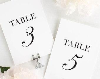 "Glam Monogram Table Numbers - 4x6"""