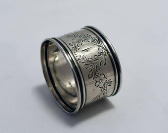 1920s WC Webster Sterling Silver Napkin Ring Engraved