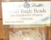Small Bugle Beads for Needlework Projects  White 70479 or Crystal 70161
