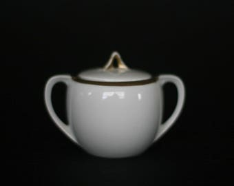 vintage white sugar bowl R S Germany