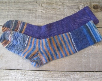 Crazy Socks!W 6-7, Superwash Wool Diabetic Socks, W 6-7 shoe size Ready to Ship Today!!