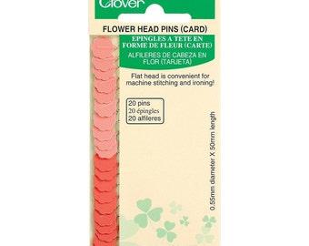 Clover Flower Head Pins Card Part No. 2505