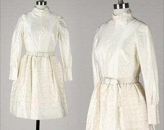 30% SALE DAVID STYNE . vintage 1960s dress . vintage wedding dress . 4355