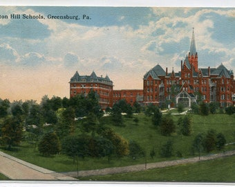 Seton Hill Schools Greensburg Pennsylvania 1916 postcard